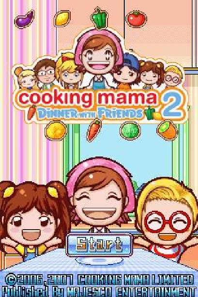 Cooking Mama 2 Dinner with Friends Nintendo DS NDS Xtreme Retro