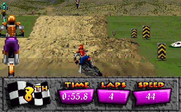 Motocross Championship Artech Studios Sega 32X Racing Xtreme Retro 2