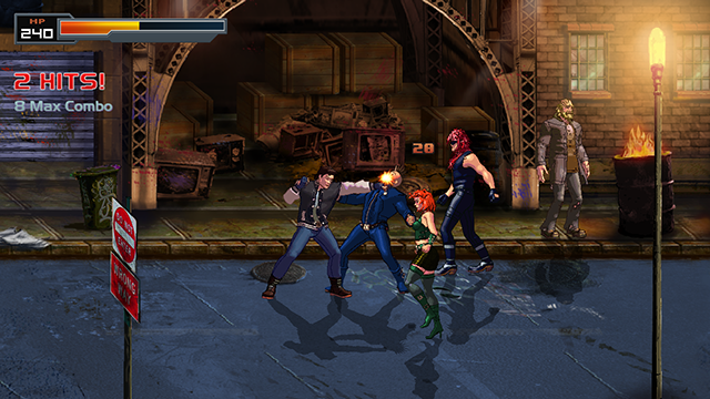 Night City Assault Beat em up Xtreme Retro 8