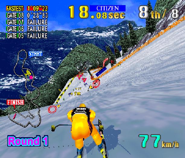 Sega Ski Super G Arcade AM1 Model 2 Xtreme Retro 4