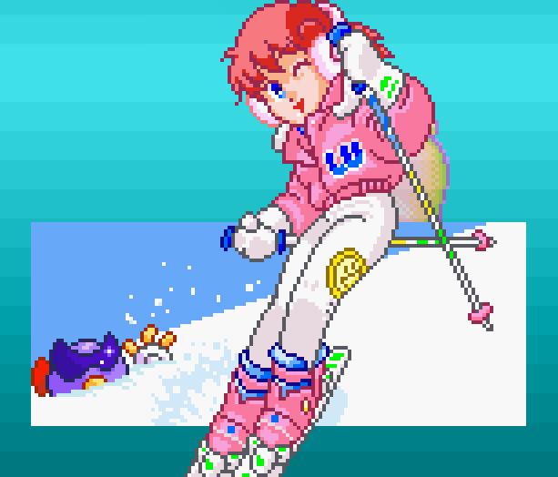 Sega Ski Super G Arcade AM1 Model 2 Xtreme Retro Pixel Art