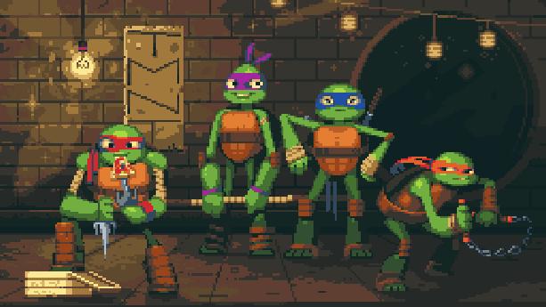 Tortugas Ninja Pixel Art Xtreme Retro