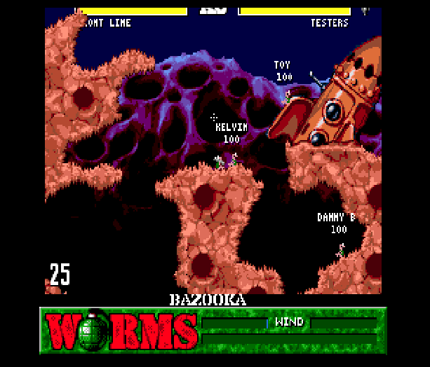 Worms Team 17 Ocean Sega Genesis Mega Drive Xtreme Retro 3