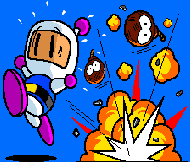 Bomberman Hudson Soft Pixel Art Xtreme Retro