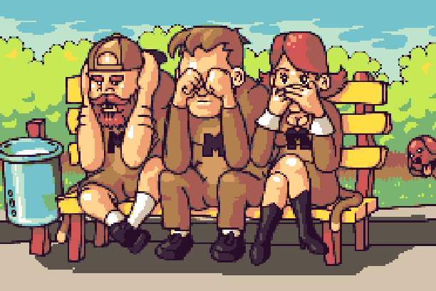Offense Pixel Art Xtreme Retro