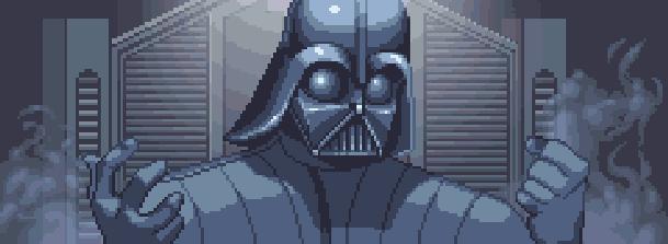 Star Wars El Poder de la Fuerza The Force Unleashed LucasArts PlayStation 3 PS3 PS2 PSP Xbox 360 Nintendo Wii DS PC Xtreme Retro Darth Vader Pixel Art