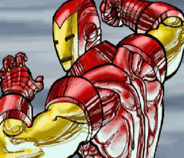 The Invincible Iron Man Marvel Comics Activision Nintendo Game Boy Advance GBA Xtreme Retro Pixel Art
