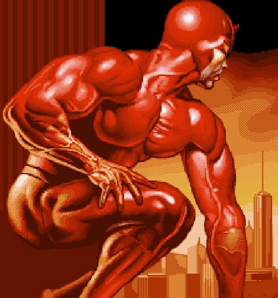 Daredevil Marvel Comics Nintendo Game Boy Advance GBA Xtreme Retro Pixel Art