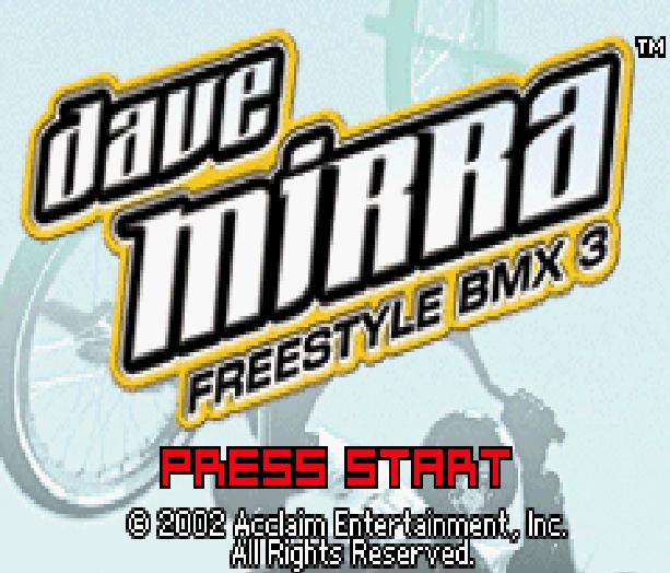 Dave Mirra Freestyle BMX3 Acclaim Nintendo Game Boy Advance GBA Xtreme Retro 1