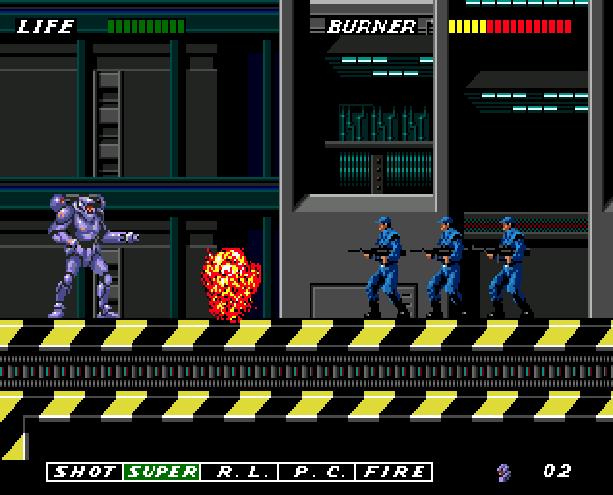 Eswat Cyber Police City Under Siege Sega Genesis Mega Drive Arcade Xtreme Retro 7