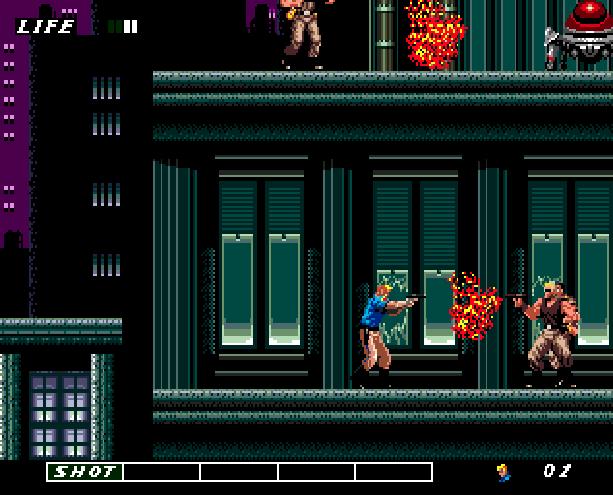 Eswat Cyber Police City Under Siege Sega Genesis Mega Drive Arcade Xtreme Retro 8