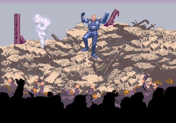 Eswat Cyber Police City Under Siege Sega Genesis Mega Drive Arcade Xtreme Retro Pixel Art