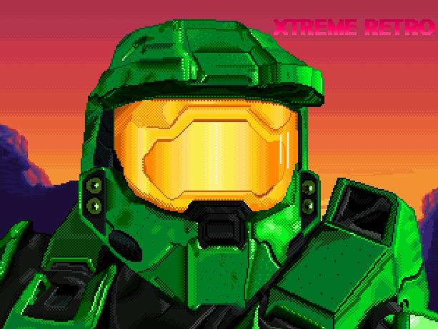 Halo Microsoft Xbox Art Xtreme Retro