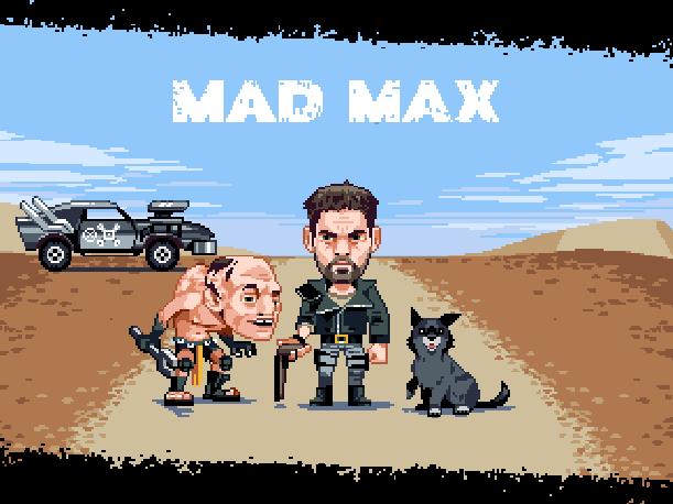 Mad Max Mindscape NES Famicom Nintendo Xtreme Retro Pixel Art