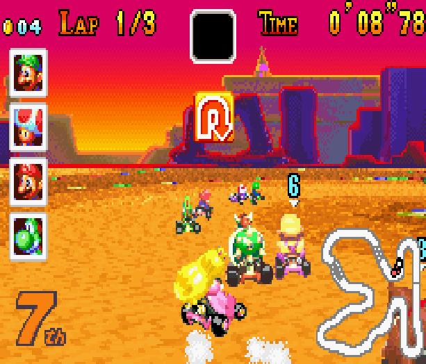 Mario Kart Super Circuit Nintendo Game Boy Advance GBA Xtreme Retro 16
