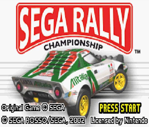 Sega Rally Championship Game Boy Advance GBA Xtreme Retro