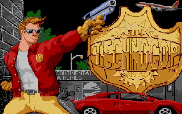 Technocop Sega Genesis Mega Drive MD Xtreme Retro Pixel Art