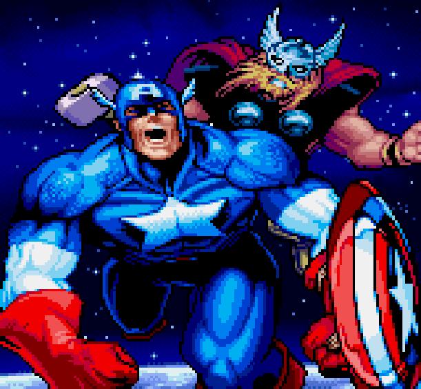 Captain America Marvel Comics Xtreme Retro Pixel Art