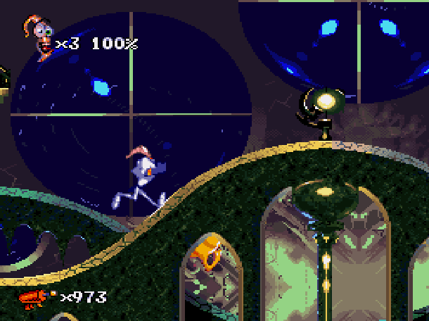 Earthworm Jim 2 Shiny Entertainment David Perry Sega Genesis Mega Drive MD Super Nintendo SNES PC MS-DOS Saturn Sony PlayStation PSX PSone Game Boy Advance GBA Xtreme Retro 12