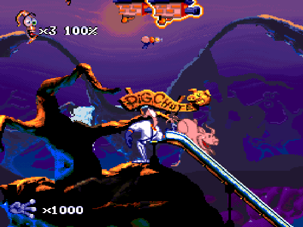Earthworm Jim 2 Shiny Entertainment David Perry Sega Genesis Mega Drive MD Super Nintendo SNES PC MS-DOS Saturn Sony PlayStation PSX PSone Game Boy Advance GBA Xtreme Retro 3