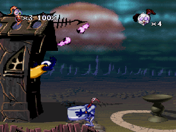 Earthworm Jim 2 Shiny Entertainment David Perry Sega Genesis Mega Drive MD Super Nintendo SNES PC MS-DOS Saturn Sony PlayStation PSX PSone Game Boy Advance GBA Xtreme Retro 4