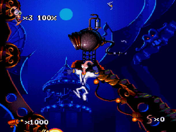 Earthworm Jim 2 Shiny Entertainment David Perry Sega Genesis Mega Drive MD Super Nintendo SNES PC MS-DOS Saturn Sony PlayStation PSX PSone Game Boy Advance GBA Xtreme Retro 7