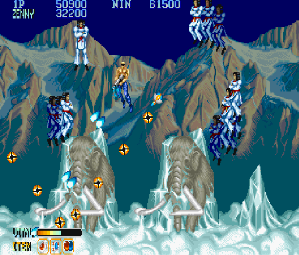 Forgotten Worlds Capcom Arcade CP System Sega Genesis Mega Drive MD Commodore 64 Amiga ZX Spectrum Amstrad CPC Master System Turbografx 16 Xtreme Retro 14