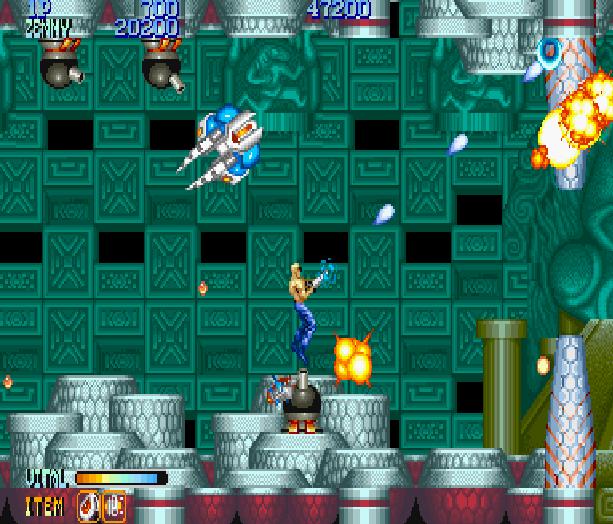 Forgotten Worlds Capcom Arcade CP System Sega Genesis Mega Drive MD Commodore 64 Amiga ZX Spectrum Amstrad CPC Master System Turbografx 16 Xtreme Retro 8