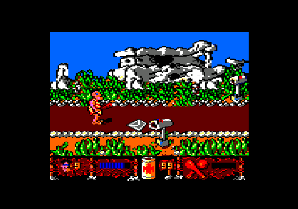 Los Inhumanos Delta Software SL 1990 Amstrad PCW DOS MSX ZX Spectrum Commodore 64 Xtreme Retro 2