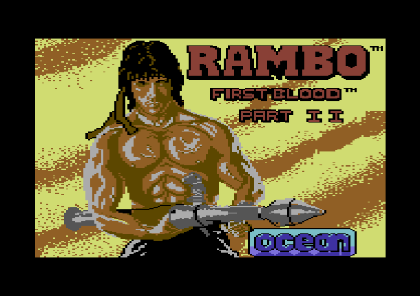 Rambo First Blood Part II Ocean Commodore 64 C64 Xtreme Retro 1