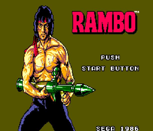 Rambo First Blood Part II Sega Master System 1986 Xtreme Retro 1