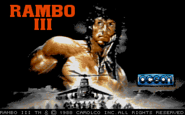 Rambo III Ocean Atari ST Xtreme Retro 1