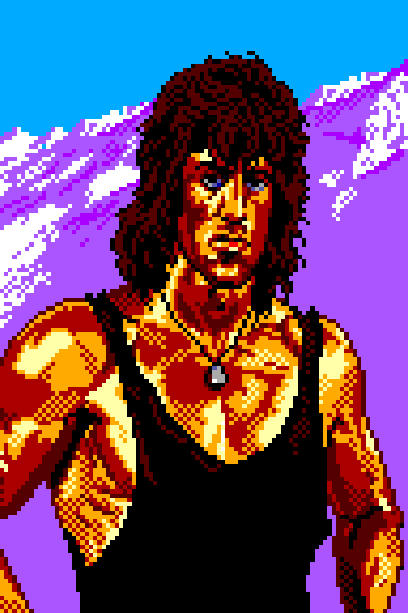 Rambo III Sega Master System Xtreme Retro Pixel Art 1