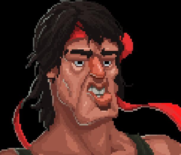 Rambo Sega Arcade Coin Op 2008 Pixel Art Xtreme Retro