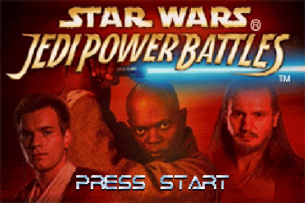 Star Wars Jedi Power Battles THQ LucasArts Beat em up Nintendo Game Boy Advance GBA Xtreme Retro 1