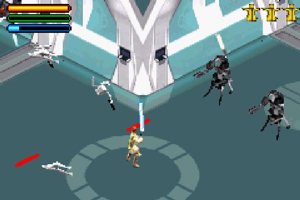 Star Wars Jedi Power Battles THQ LucasArts Beat em up Nintendo Game Boy Advance GBA Xtreme Retro 13