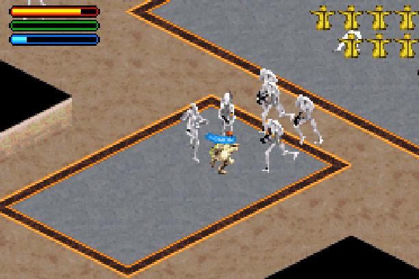 Star Wars Jedi Power Battles THQ LucasArts Beat em up Nintendo Game Boy Advance GBA Xtreme Retro 23