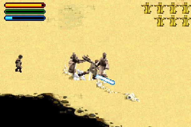 Star Wars Jedi Power Battles THQ LucasArts Beat em up Nintendo Game Boy Advance GBA Xtreme Retro 24
