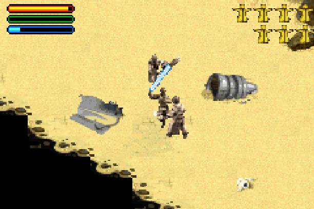 Star Wars Jedi Power Battles THQ LucasArts Beat em up Nintendo Game Boy Advance GBA Xtreme Retro 25