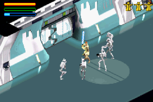 Star Wars Jedi Power Battles THQ LucasArts Beat em up Nintendo Game Boy Advance GBA Xtreme Retro 8