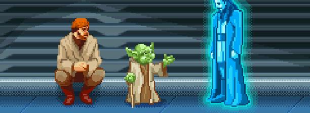 Star Wars Jedi Power Battles THQ LucasArts Beat em up Nintendo Game Boy Advance GBA Xtreme Retro Pixel Art