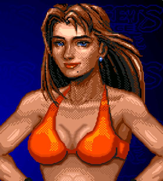 Streets of Rage Bare Knuckle Blaze Fielding Pixel Art Xtreme Retro