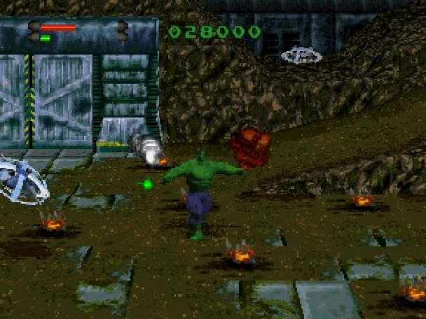 The Incredible Hulk the Pantheon Saga Eidos Interactive Marvel Comics Sony PlayStation PSone PSX Sega Saturn PC MS-DOS Xtreme Retro 9