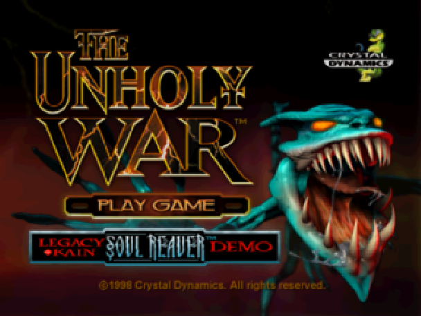 The Unholy War Proein Crystal Dynamics Sony PlayStation PSone PSX Xtreme Retro 1
