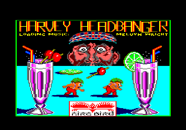 Harvey Headbanger Firebird 1986 Arcade Amstrad CPC Commodore 16 64 C16 C64 ZX Spectrum BBC Micro Xtreme Retro 1