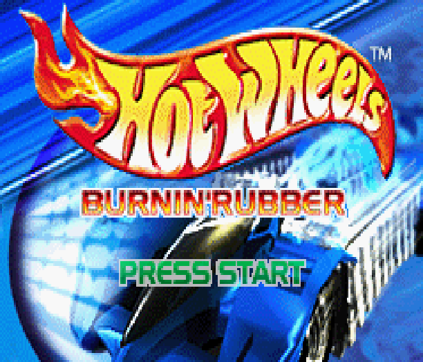 Hot Wheels Burnin Rubber THQ Altron Nintendo Game Boy Advance GBA Xtreme Retro 1