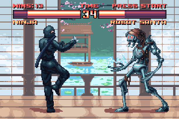 Masters of Combat Sega Master System Fighting Game Xtreme Retro Pixel Art