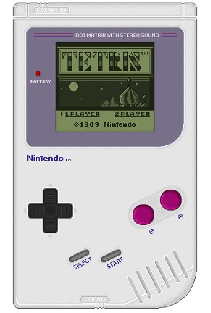 Nintendo Game Boy GB DOT Matrix Pixel Art Xtreme Retro