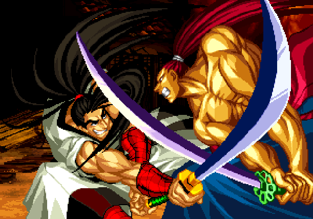Samurai Shodown V Yuki Enterprise SNK Playmore Arcade Coin Op Neo Geo PlayStation 2 PS2 Xbox Xtreme Retro Pixel Art