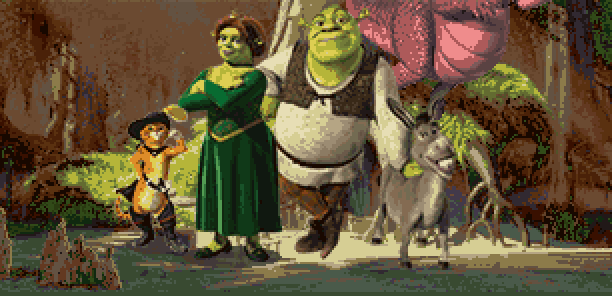 Shrek Super Slam Activision Dreamworks PlayStation 2 PS2 Nintendo GameCube GC Xbox DS Game Boy Advance GBA PC Fighting Xtreme Retro Pixel Art